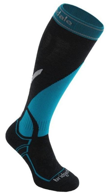 Ponožky Bridgedale Vertige Mid 003 gunmetal / blue
