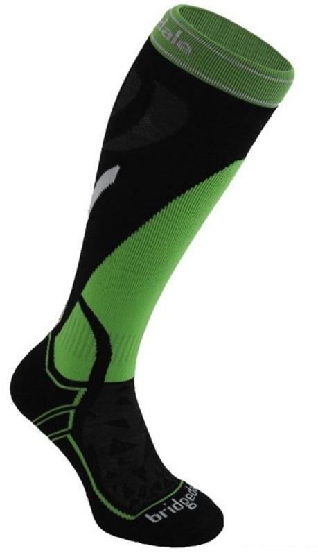 Ponožky Bridgedale Vertige Mid 843 black / green
