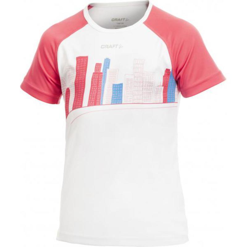 Tričko CRAFT Cool Junior 1901983-2900 - biela s ružovou