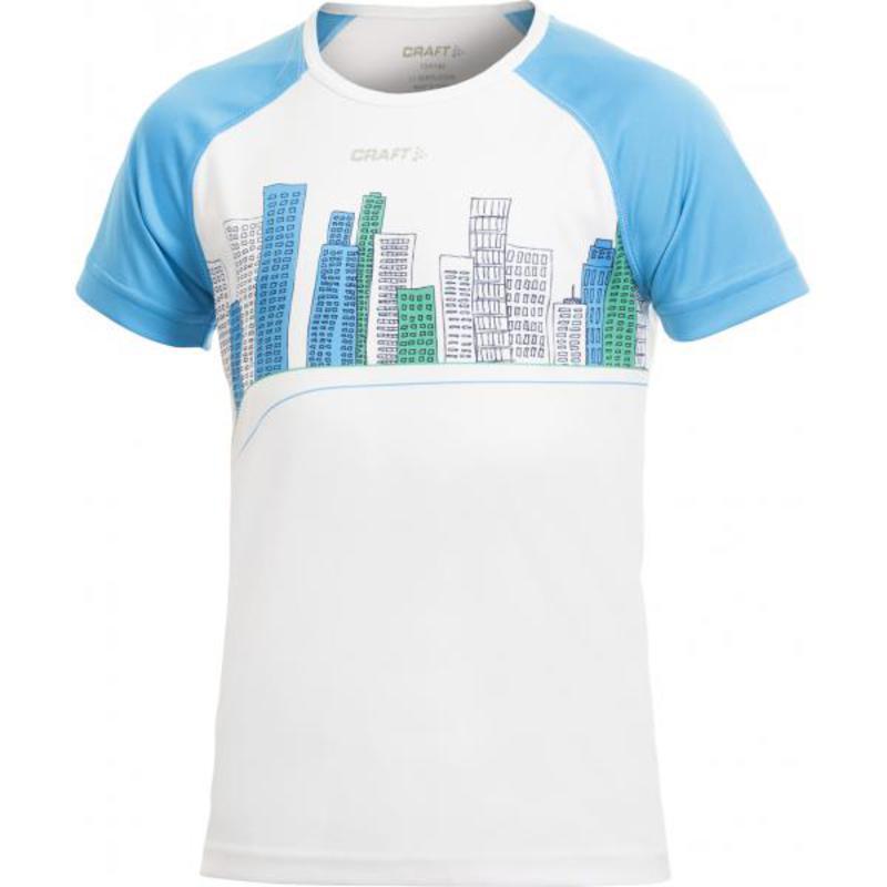 Tričko CRAFT Cool Junior 1901983-3900 - biela s modrou