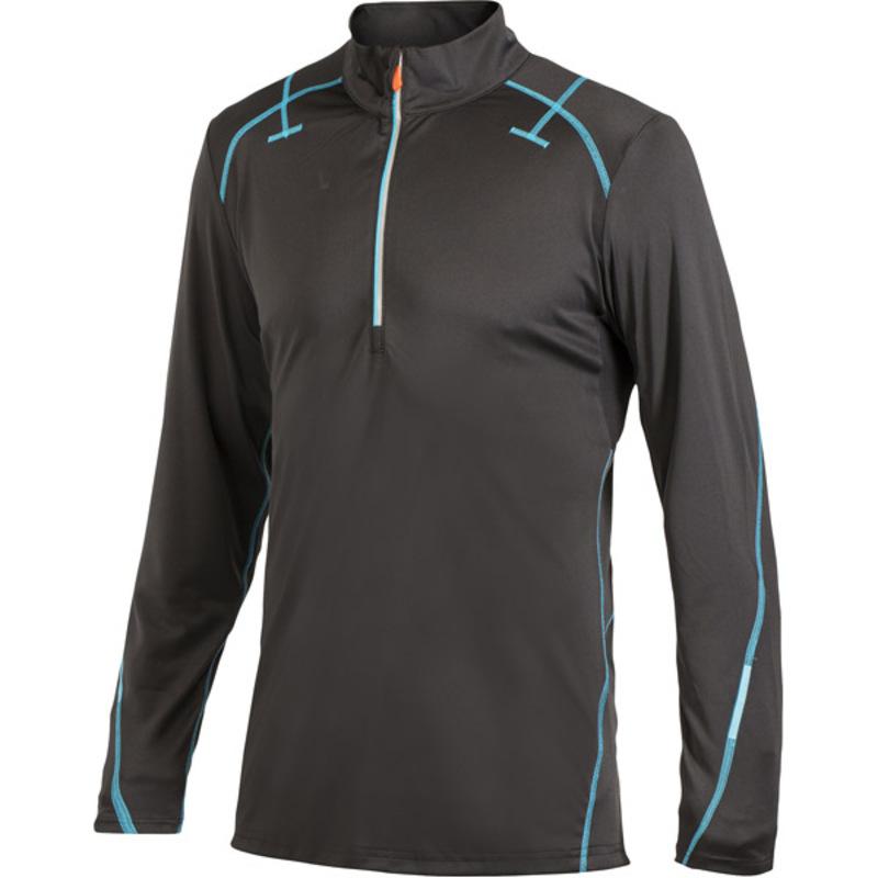 Tričko CRAFT PR Half Zips 1902216-9339 - čierna s modrou
