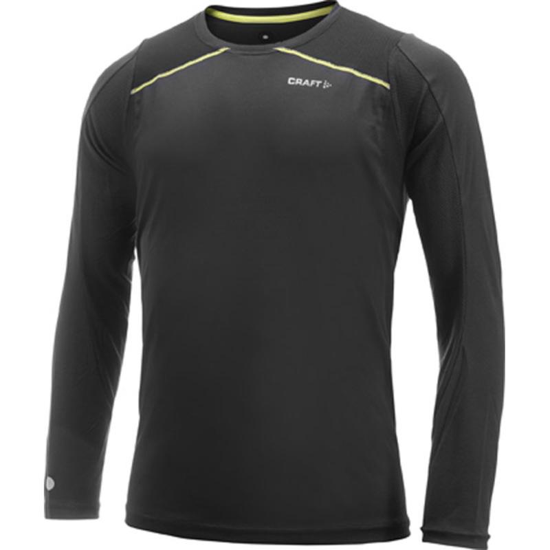 Tričko CRAFT PR 1901333-9645 - čierna sa zelenou