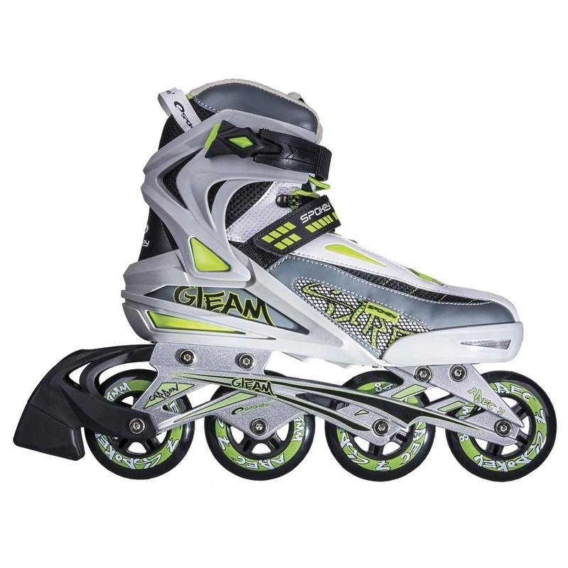 Kolieskové korčule Spokey šedo-zelené
