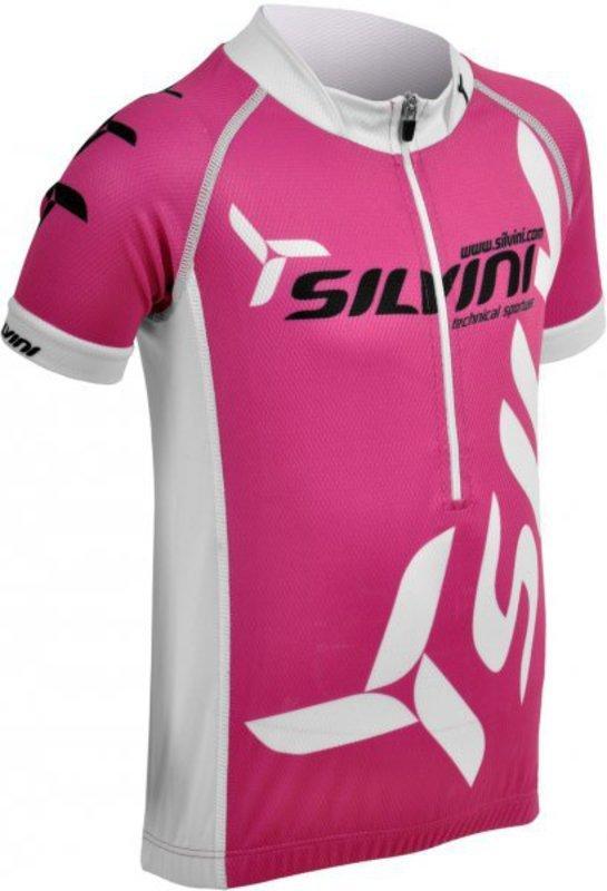 Juniorský cyklistický dres Silvini Team CD403 fuchsia