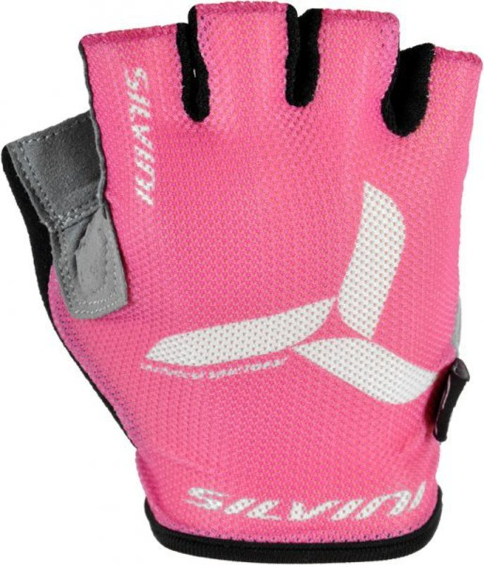 Detské cyklistické rukavice Silvini Team UA405 dark pink