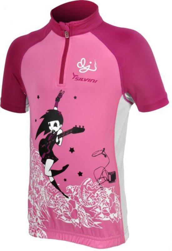 Detský cyklistický dres Silvini Cavone CD394K pink-purple