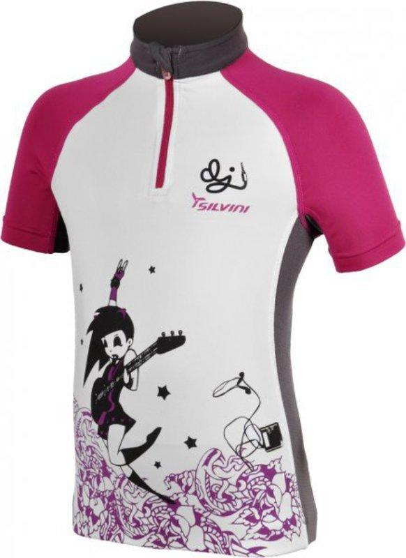 Detský cyklistický dres Silvini Cavone CD394K white-purple