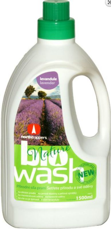 Biowash Gél z mydlových orechov s levanduľovou silicou 1,5 l
