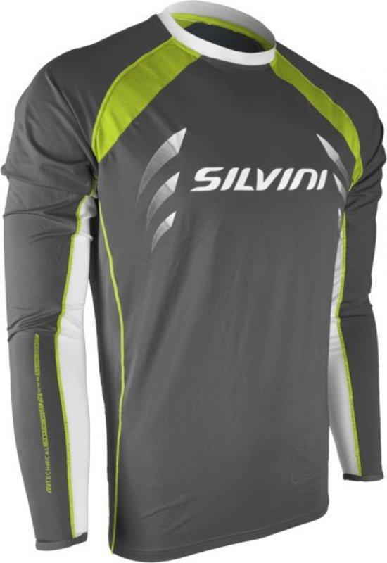 Pánsky cyklistický dres Silvini Reno MD609 charcoal-lime