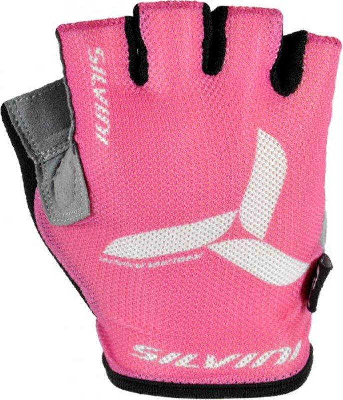 Dámske cyklistické rukavice Silvini Team UA262W pink