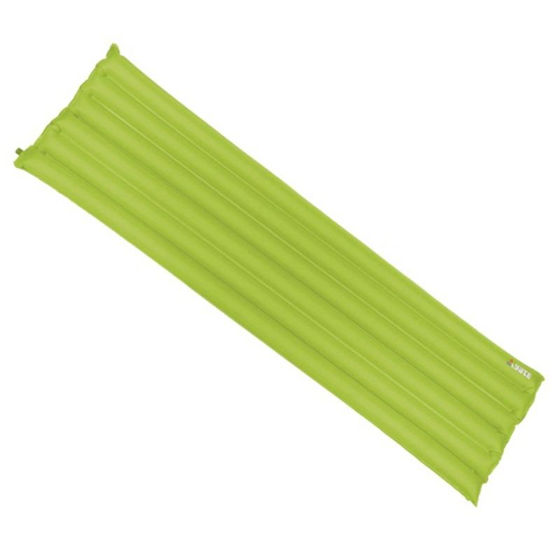 Nafukovací karimatka YATE - Buřtovka, 6 trubíc zelená 183X50X7 CM