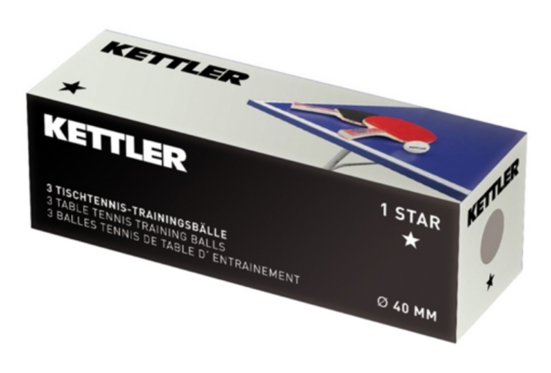 Loptičky na stolný tenis Kettler 1-STAR 7221-400