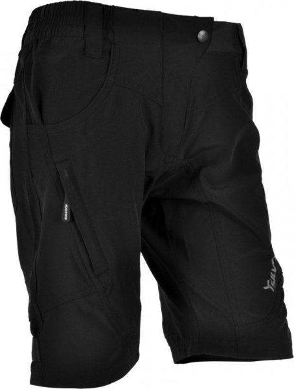 Dámske voľné cyklistické nohavice Silvini Fasca WP476 black