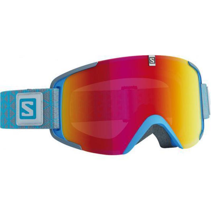 Lyžiarske okuliare Salomon XVIEW Blue/Univ. Mid Red 377841