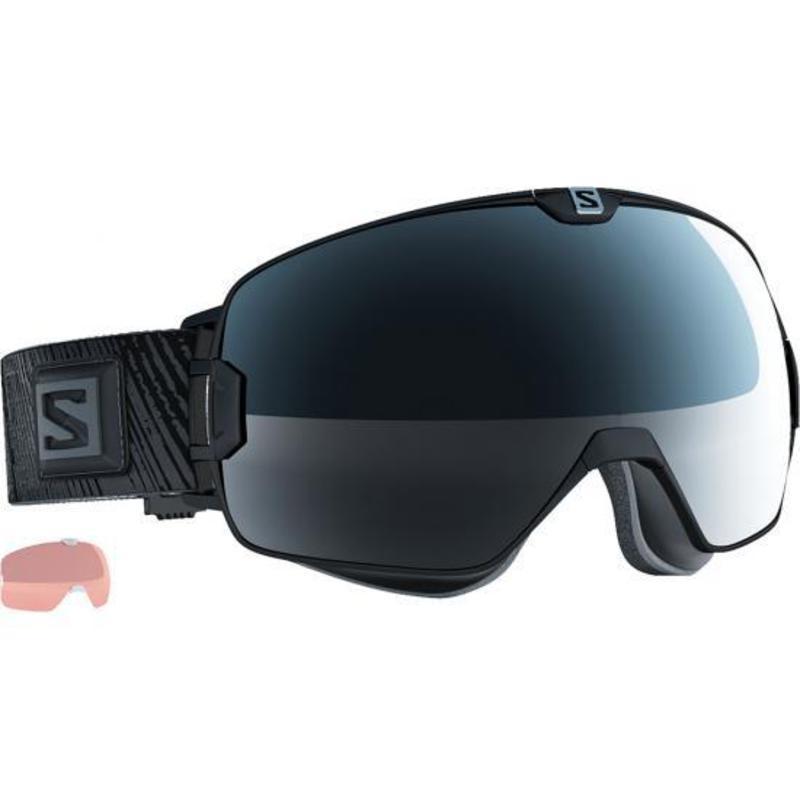 Lyžiarske okuliare Salomon Xmax Black/Solar Black + Extra Lens 377885