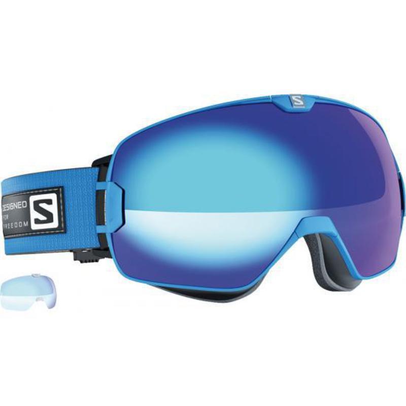 Lyžiarske okuliare Salomon Xmax Blue/Solar Blue + Extra Lens 377887