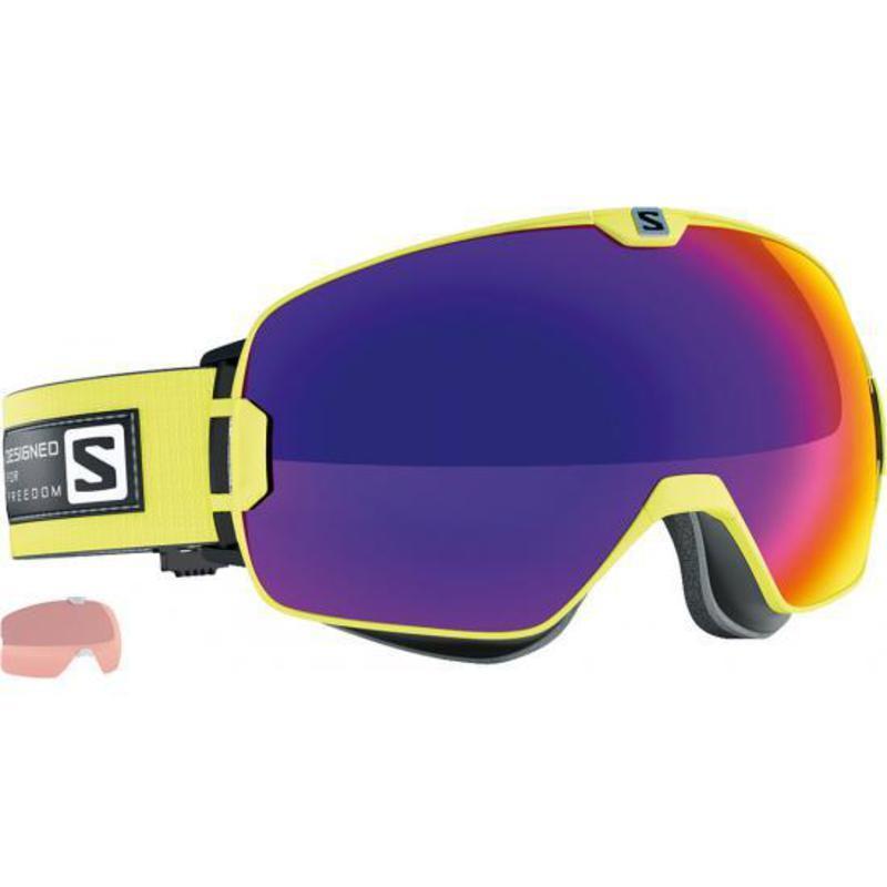 Lyžiarske okuliare Salomon Xmax Gecko Green/Solar Infrared + Extra Lens 377890