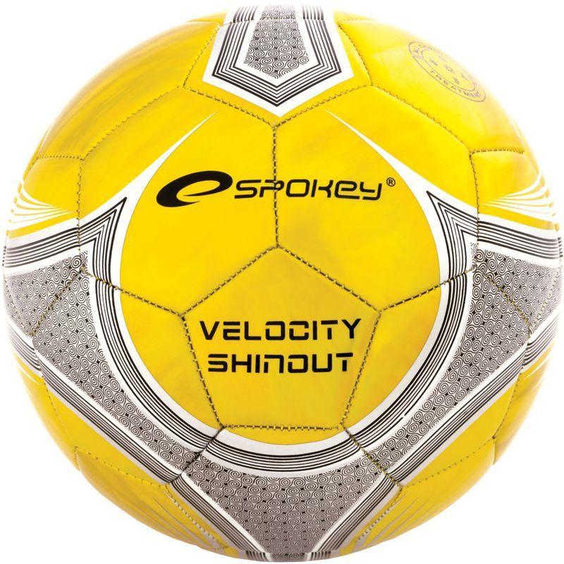 Futbalový lopta Spokey VELOCITY SHINOUT žltý č.5