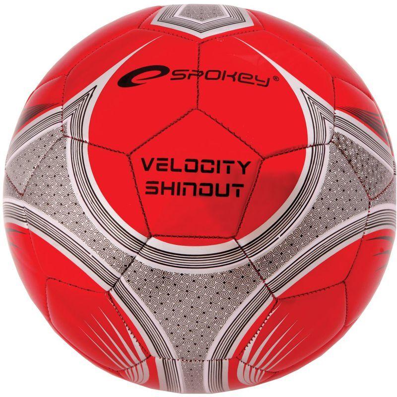 Futbalový lopta Spokey VELOCITY SHINOUT červený č.5