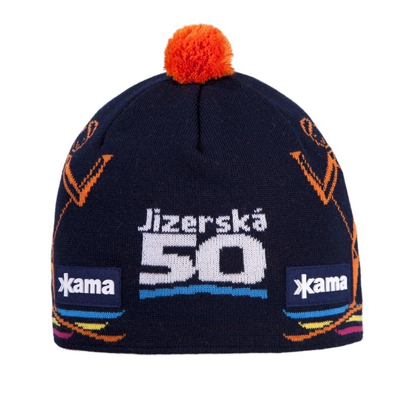 Čiapky Kama J50 108/103 tmavo modrá / oranžová 2015