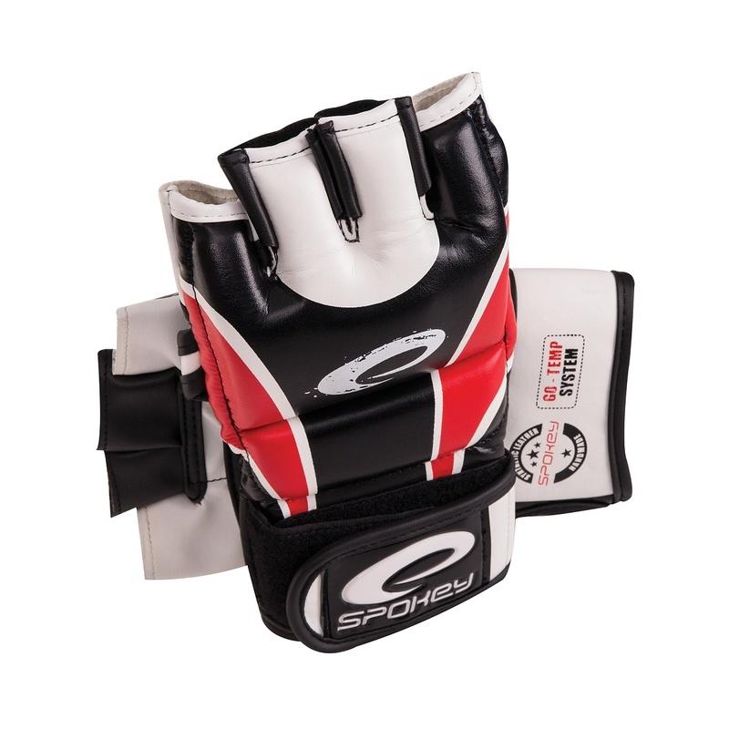 HIYO Kožené rukavice na MMA červené M-XL - všetky veľkosti v detailu