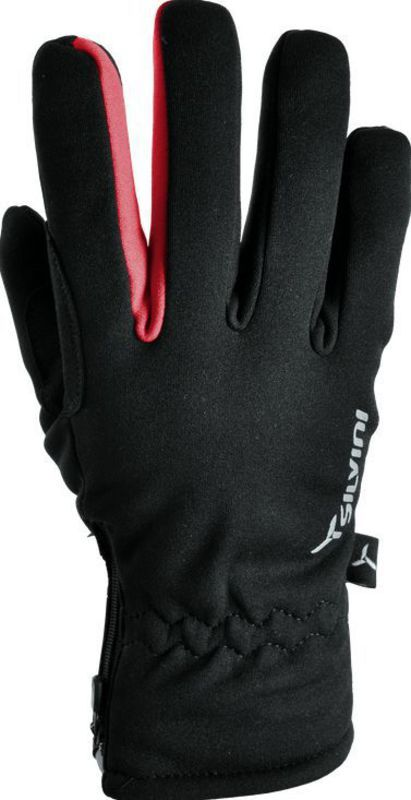 Pánske rukavice Silvini Trelc MA733 black-red