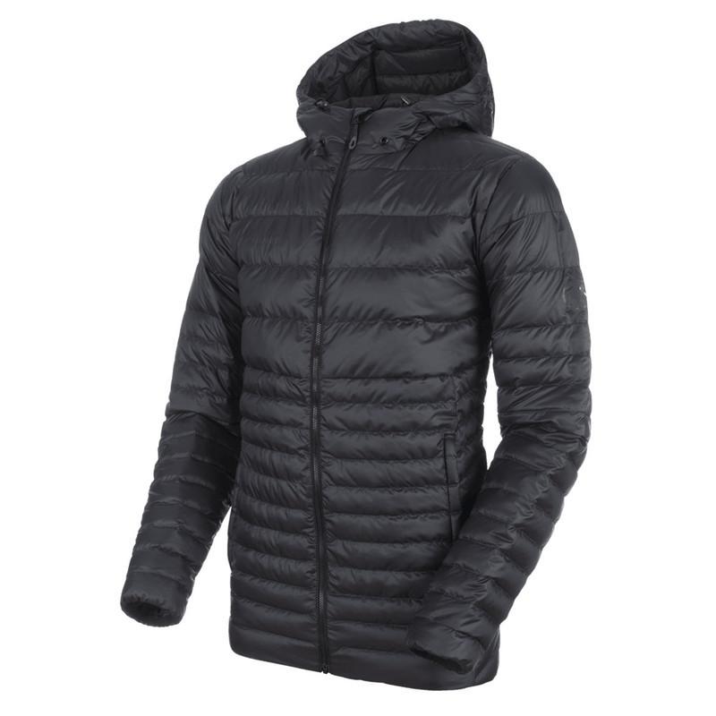 Pánska bunda Mammut Convey IN Hooded Jacket Men black phantom 00189 M