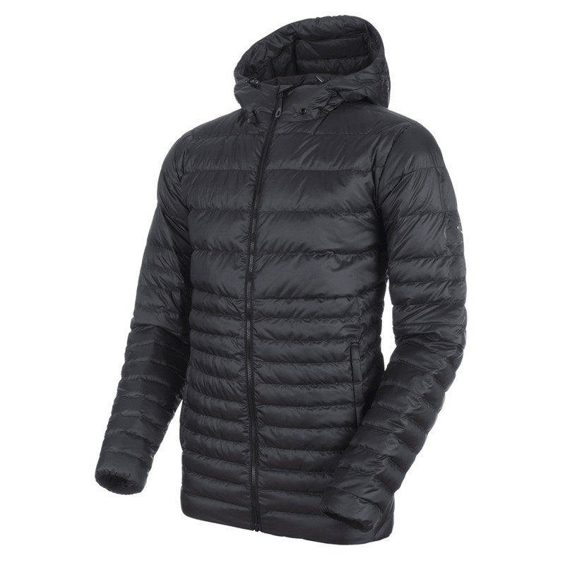 Pánska bunda Mammut Convey IN Hooded Jacket Men black phantom 00189 XXL