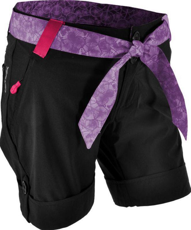 Dámske voľné kraťasy Silvini Ciani WP806 black-lilac