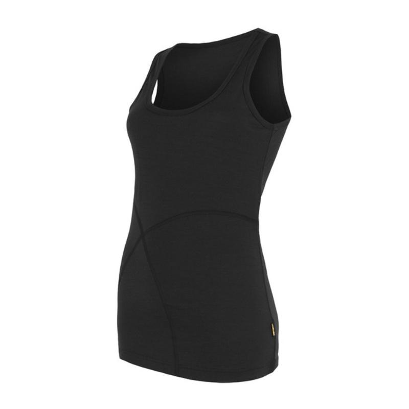 Dámsky nátelník Sensor Merino Wool Active čierna 16100009 L