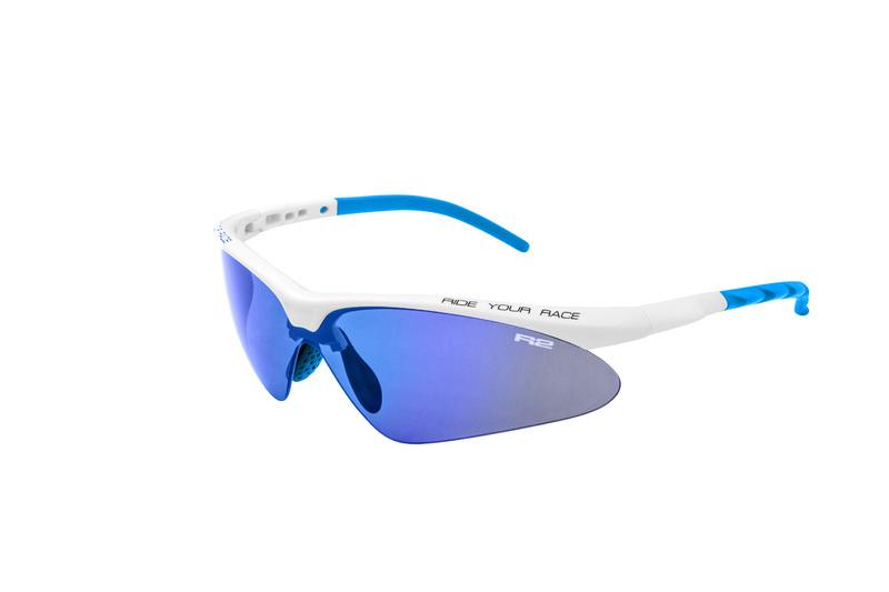 Športové slnečné okuliare R2 FLIP biele AT083B