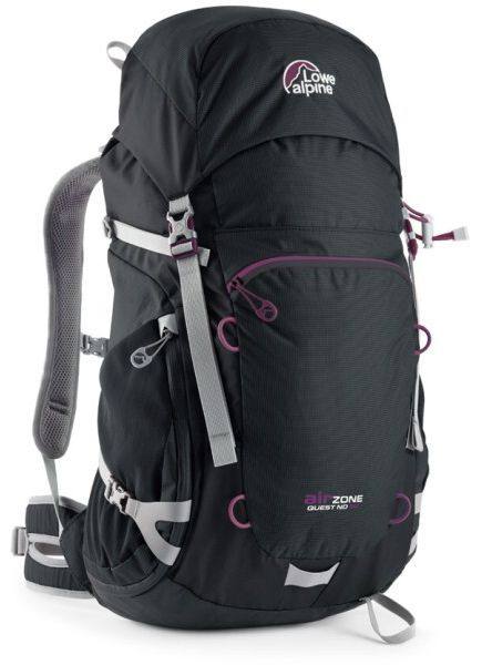 Batoh Lowe alpine AirZone Quest ND 30 black / purple potion