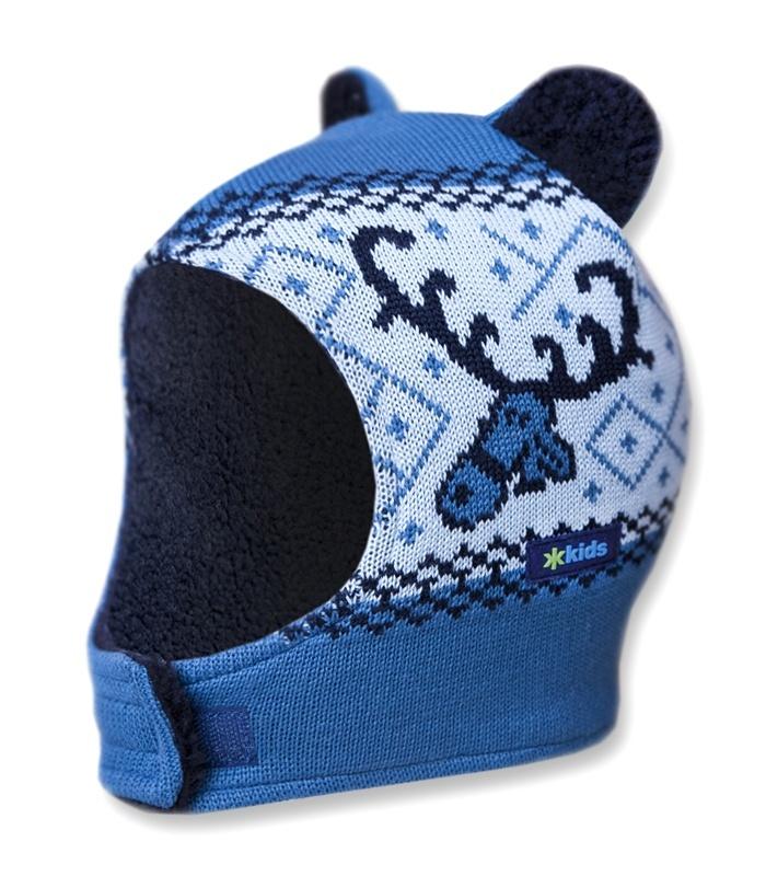 Detská pletená kukly-čiapky Kama B16 107 svetlo modrá XXS