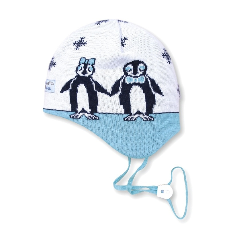 Detská pletená čiapka Kama B51 100 biela