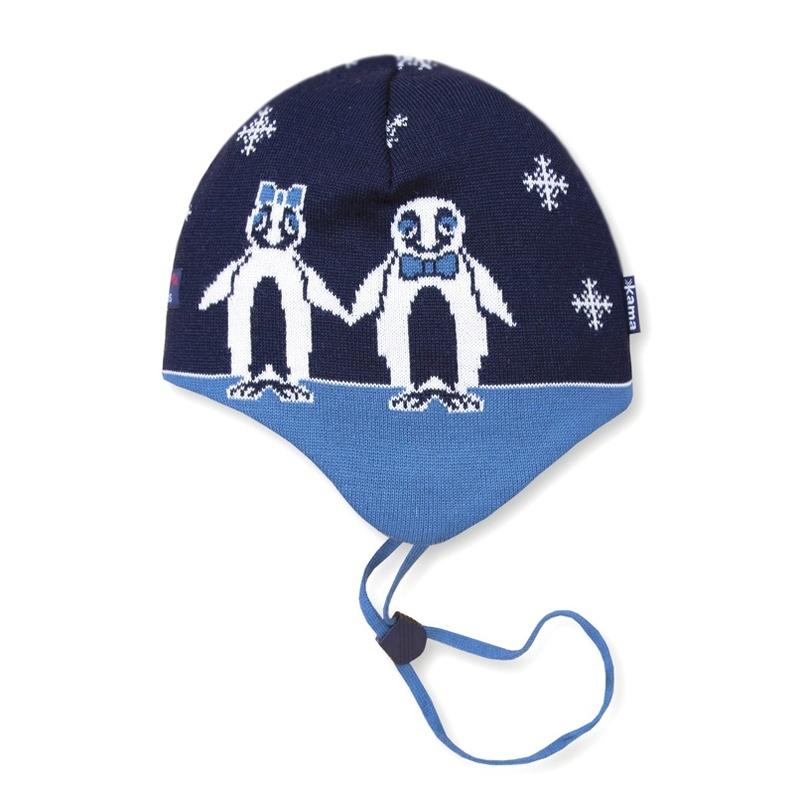 Detská pletená čiapka Kama B51 108 tmavo modrá