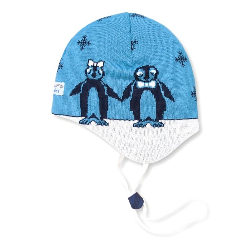Detská pletená čiapka Kama B51 115 tyrkysová