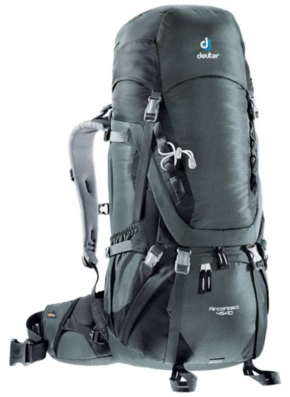 Batoh Deuter Aircontact 45+10 granite-black (3320116)