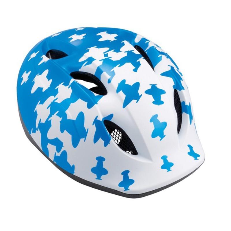 Detská helma Met Buddy lietadlo / modrá