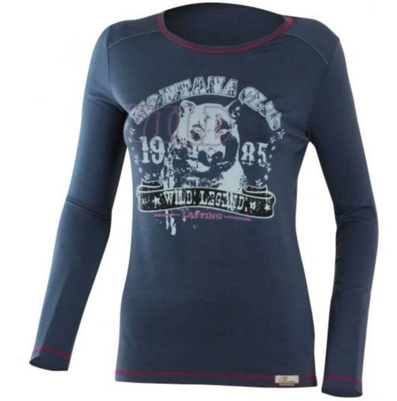 Dámske vlnené triko Lasting Marina 5656 modrá XS