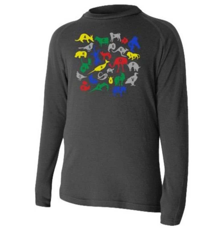 Detské vlnené triko Lasting Haro 9090 čierna 130
