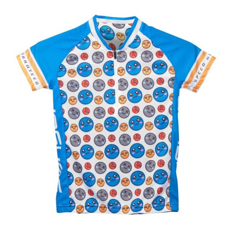 Detský cyklo dres Sensor Smile Evo modrá 12100085