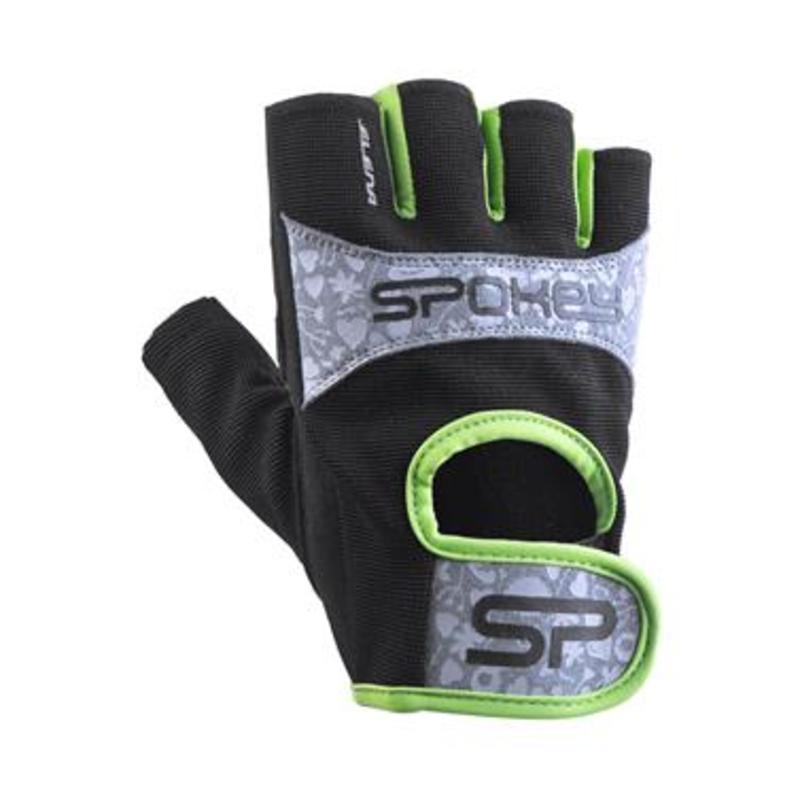 Dámske fitness rukavice Spokey ELENA II limeta
