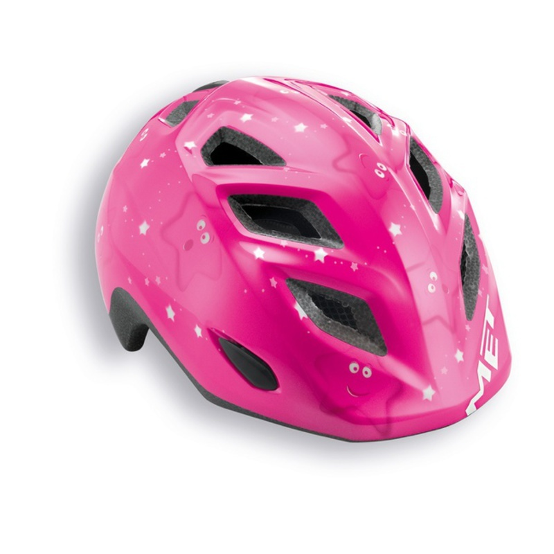 Detská helma Met Genio 52/57 - hviezdičky / ružová