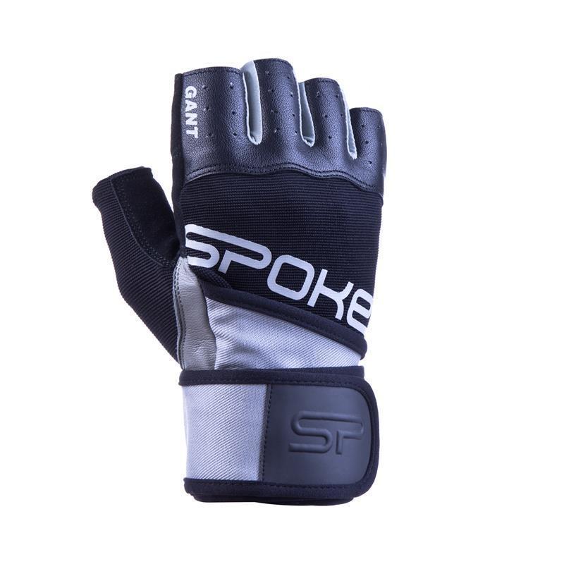 Fitness rukavice Spokey GANT II čierna-biela
