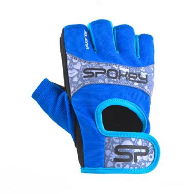 Dámske fitness rukavice Spokey ELENA II modro-tyrkysové