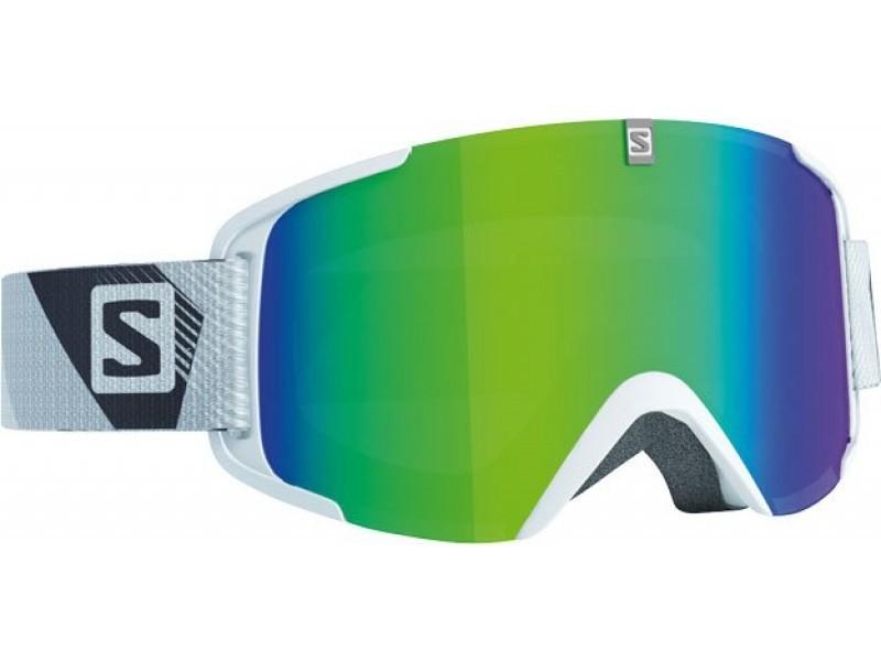 Lyžiarske okuliare Salomon XVIEW White & Green lense 368013