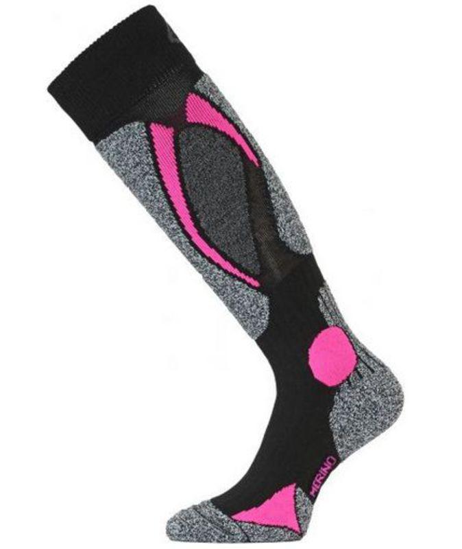 Lyžiarske ponožky Lasting SWC 904 čierna L (42-45)