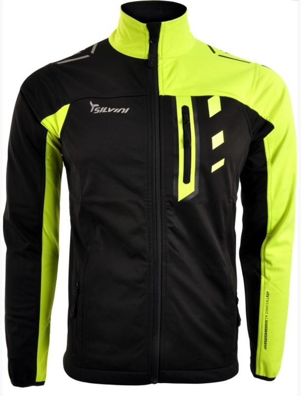 Pánska softshellová bunda Silvini CASINO MJ701 neon-black L