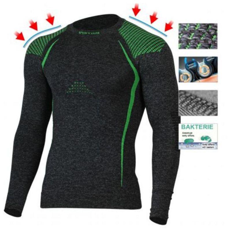 Pánske Merino triko Lasting Tolo 8960 sivá S/M