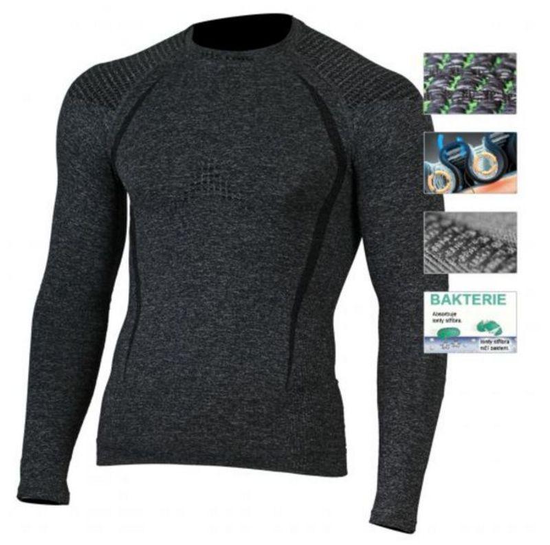 Pánske Merino triko Lasting Tolo 8990 sivá S/M